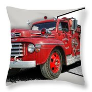 Out Of The Photo Fire Truck Throw Pillow