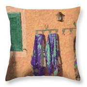 Out Of The Pool Throw Pillow