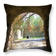 Out Of The Tunnel Throw Pillow