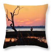 Ocean City Sunset Out On A Limb Throw Pillow
