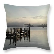 Out On The Lake Throw Pillow