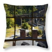 Out Our Window Throw Pillow