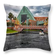 Out Running The Storm At The Dolphin Resort Throw Pillow