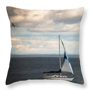 Out Running The Storm Throw Pillow