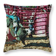 Out The Chute Throw Pillow