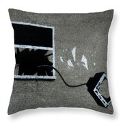 Out The Window Throw Pillow