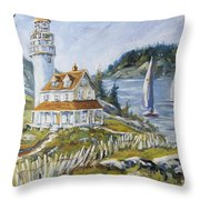 Out To Sea By Prankearts Throw Pillow