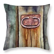 That Old Shed Throw Pillow