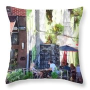 Outdoor Cafe Philadelphia Pa Throw Pillow