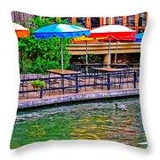 Outdoor Dining Throw Pillow
