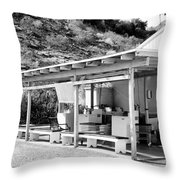 Outdoor Laundry Bw Palm Springs Throw Pillow