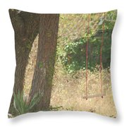 Outdoor Swing Throw Pillow