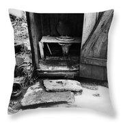 Outdoor Toilet, 1935 Throw Pillow
