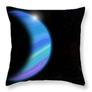 Outer Space Dance Digital Painting Throw Pillow by Georgeta Blanaru