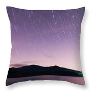Outer Space Over Lake Santeetlah In Great Smoky Mountains In Sum Throw Pillow