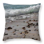 Outgoing Tide Throw Pillow