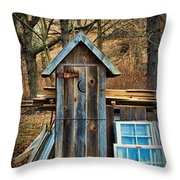 Outhouse - 5 Throw Pillow by Paul Ward