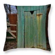 Outhouse - 6 Throw Pillow