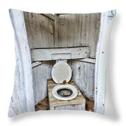 Outhouse A Look Inside Throw Pillow