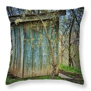 Outhouse In Spring Throw Pillow