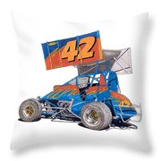 Dirt Track Racing Outlaw 42 Throw Pillow
