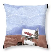 Outlaw Race Car Throw Pillow