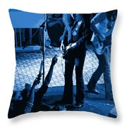 Outlaws #16 Art Blue Throw Pillow