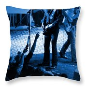 Outlaws #16 Blue Throw Pillow