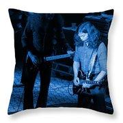 Outlaws #20 Crop 3 Blue Throw Pillow