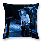 Outlaws #21 Crop 2 Blue Throw Pillow