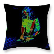 Outlaws #22 Art Psychedelic Throw Pillow
