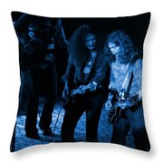Outlaws #25 Crop 2 Blue Throw Pillow