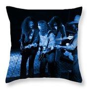 Outlaws #26 Crop 2 Blue Throw Pillow