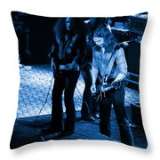 Outlaws #32 Crop 2 Blue Throw Pillow