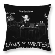 Outlaws With Toy Caldwell 1975 Throw Pillow