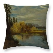 Outlet At Lake Tahoe Throw Pillow