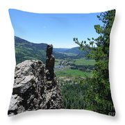Outlook From The Ridge Throw Pillow