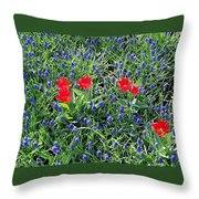 Outnumbered And Surrounded Throw Pillow
