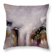 Outpour Modern Contemporary Abstract Original Painting On Canvas Throw Pillow