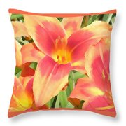 Outrageous Lilies Throw Pillow