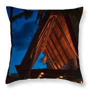 Outrigger Reef On The Beach Throw Pillow