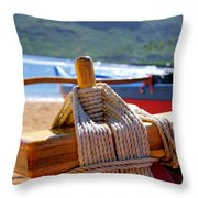 Outrigger Rigging Throw Pillow