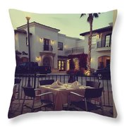 Outside Dining Throw Pillow by Laurie Search
