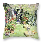 Outside Looking In, 1991 Wc On Paper Throw Pillow