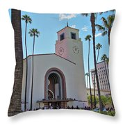 Outside Los Angeles Union Station Throw Pillow