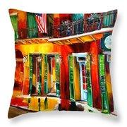 Outside Pat O'brien's Bar Throw Pillow by Diane Millsap