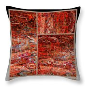 Outside The Box - Abstract Art Throw Pillow