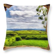 Outside The Fortress Wall Throw Pillow