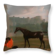 Outside The Guardhouse At Windsor Throw Pillow