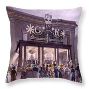 Outside The Theatre Royal, Drury Lane Throw Pillow